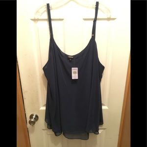 NWT! Torrid plus size 4 Navy double layer cami